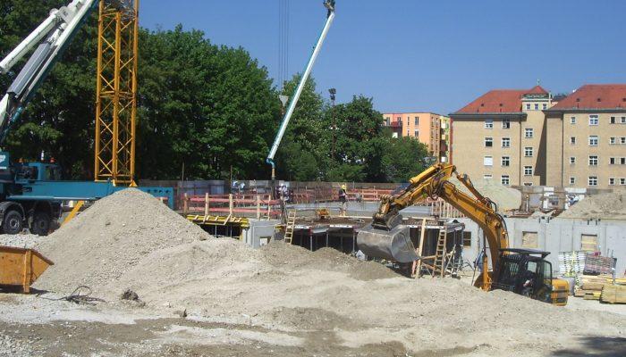 Baustelle in Taufkirchen